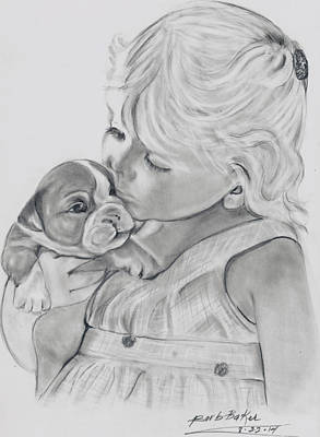 Me And My Puppy Art Print