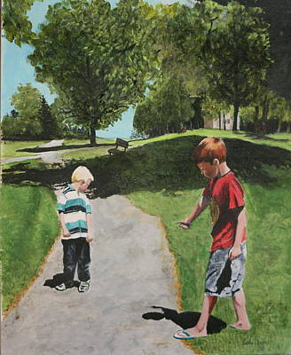 Painting - Me And My Shadow by Betty-Anne McDonald