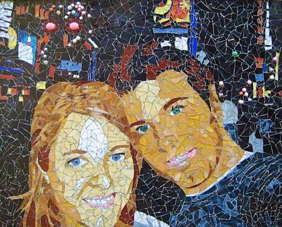Me And Santi In Times Square Art Print