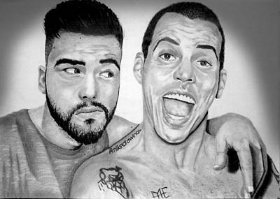 Igers Drawing - Me And The One Steve O by Mike Sarda
