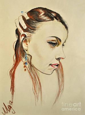 Art Print featuring the drawing Me by Maja Sokolowska