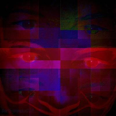 Self-portrait Digital Art - Me Myself Eye by Mimulux patricia no No