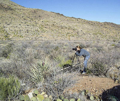 Photograph - Me Shooting The Chisos Mountains by Amber Kresge