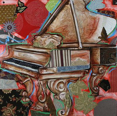 Mixed Media - Me The Piano by Katia Von Kral