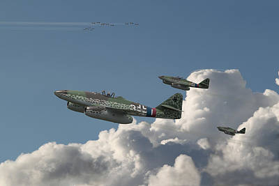 B17 Photograph - Me262- Eagles Rising by Pat Speirs