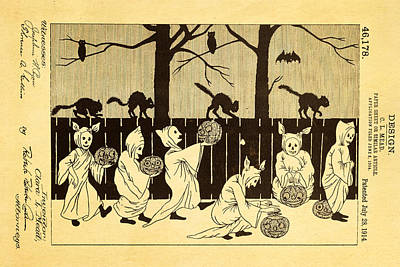 Mead Halloween Sheet Patent Art 1914 Art Print by Ian Monk
