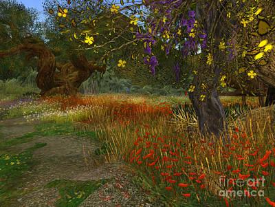 Meadow And Trees Art Print by Susanne Baumann