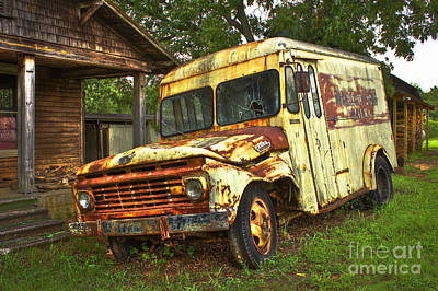 Photograph - Rusty And Tired Meadow Gold Milk Ford by Reid Callaway