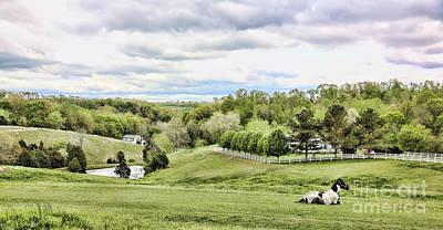 Tennessee Barn Photograph - Meadow II by Chuck Kuhn