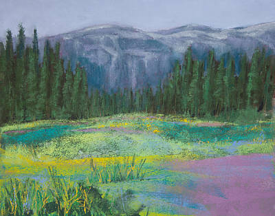 Painting - Meadow In The Cascades by David Patterson
