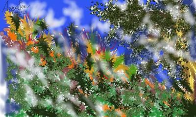Painting - Meadow Mist by Arjun L Sen
