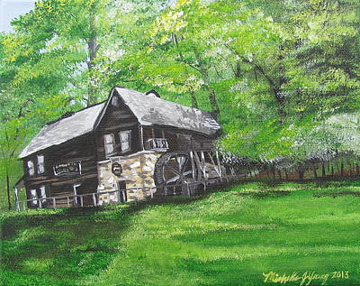 Michie Tavern Painting - Meadow Run Mill by Michelle Young