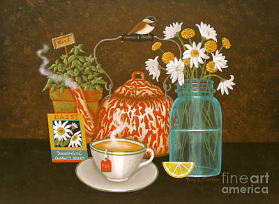 Meadow Tea Art Print by Mary Charles