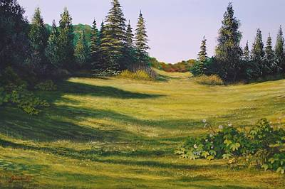 Sarasota Artist Painting - Meadow Walk by Alan Zawacki