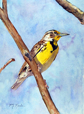 Meadowlark Painting - Meadowlark Sunrise by Marsha Karle