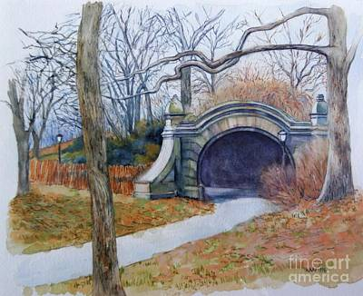 Painting - Meadowport Arch Prospect Park by Nancy Wait