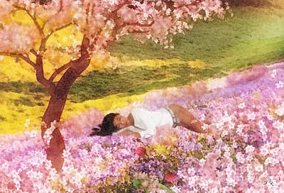 Sakura Painting - Meadows Of Heaven by Mo T