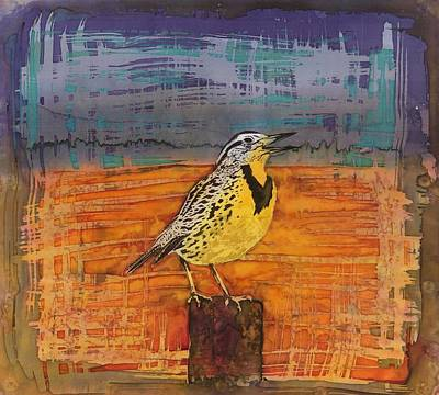 Meadowlark Tapestry - Textile - Meadows Song by Carolyn Doe