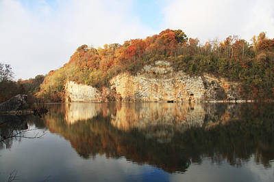 Photograph - Mead's Quarry In Autumn by Melinda Fawver