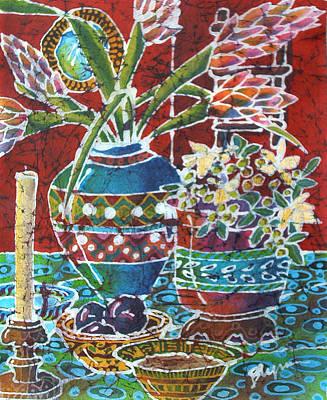 Gladiolas Painting - Meagan Vase by Blynn Pippen