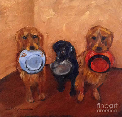 Painting - Meal Time Hint by Shelley Koopmann