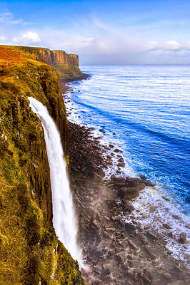 Skye Photograph - Mealt Falls And Kilt Rock - Isle Of Skye by Mark E Tisdale