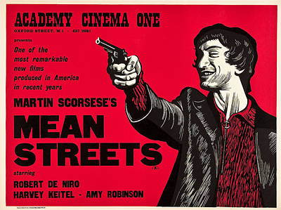 Mean Streets, Robert Deniro On Uk Art Print by Everett