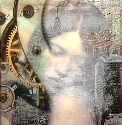 Digital Art - Mean Theory Portrait Art  by Mary Clanahan