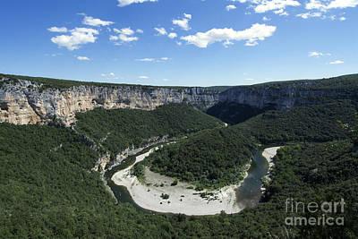 Meandering Photograph - Meander. Gorges De L'ardeche. France by Bernard Jaubert
