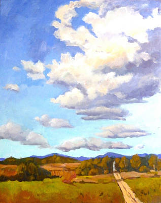 Painting - Meandering Clouds by Ingrid Dohm