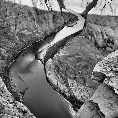 Northern Arizona Photograph - Meandering River Horseshoe Bend Navajo Nation Page Arizona by Silvio Ligutti