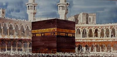 Hajj Painting - Mecca Kaaba by Martin Giesen