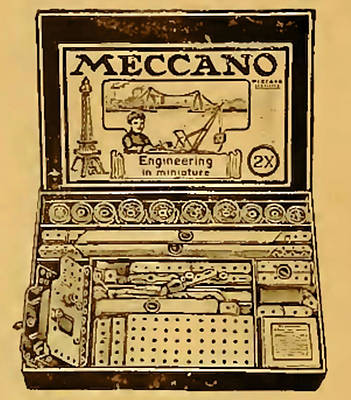 Steampunk Royalty-Free and Rights-Managed Images - Meccano Steampunk Engineering by Del Gaizo