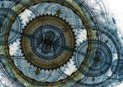 Mechanical Circles Art Print