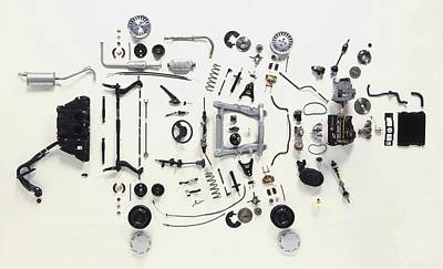 Exploded View Photograph - Mechanical Components by Dorling Kindersley/uig