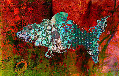 Digital Art - Mechanical - Fish by Fran Riley