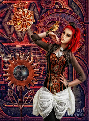 Mechanical Garden Art Print by Mo T