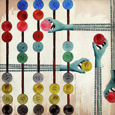 Accountancy Wall Art - Photograph - Mechanical Hands On Pulley Chains by Ikon Ikon Images