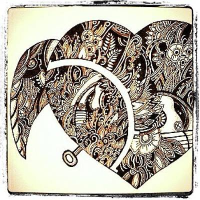 Steampunk Wall Art - Photograph - Mechanical Heart #ink #drawing #doodle by Megan Smith