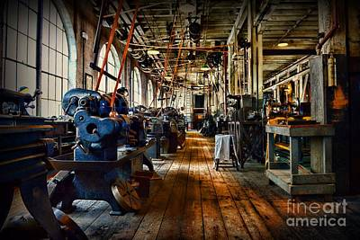 Machine Shop Photograph - Mechanical Works by Paul Ward