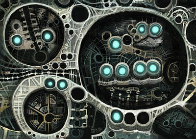 Grim Digital Art - Mechanics by Petri Naumanen