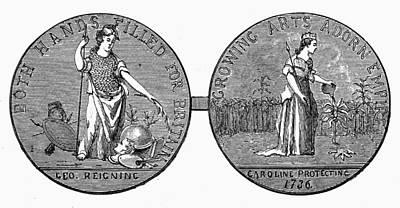 Separation Painting - Medal Carolinas, 1736 by Granger
