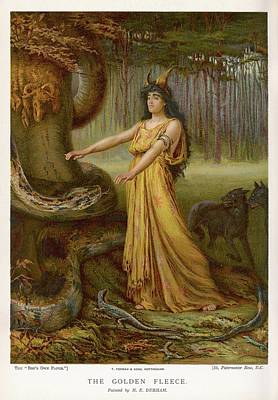Medea, Daughter Of Aeetes King Art Print by Mary Evans Picture Library