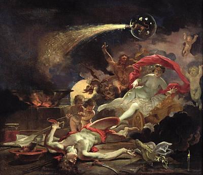 Medea Rejuvenating Eson Oil On Canvas Art Print by Domenicus van Wijnen