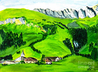 Painting - Medels In Switzerland by Jutta B