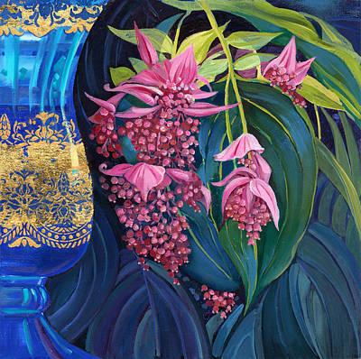 Medenila In Italian Vase Original by Olga Panina