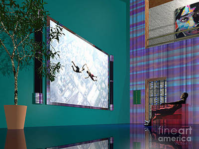 Media Room Art Print by Walter Oliver Neal