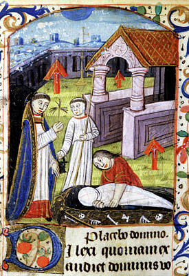 Devotional Photograph - Mediaeval Funeral by Cci Archives