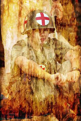 Skirmish Digital Art - Medic Ww II Us Army by Thomas Woolworth