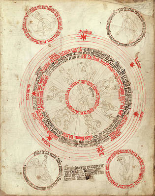Vellum Photograph - Medical Astrology by Library Of Congress